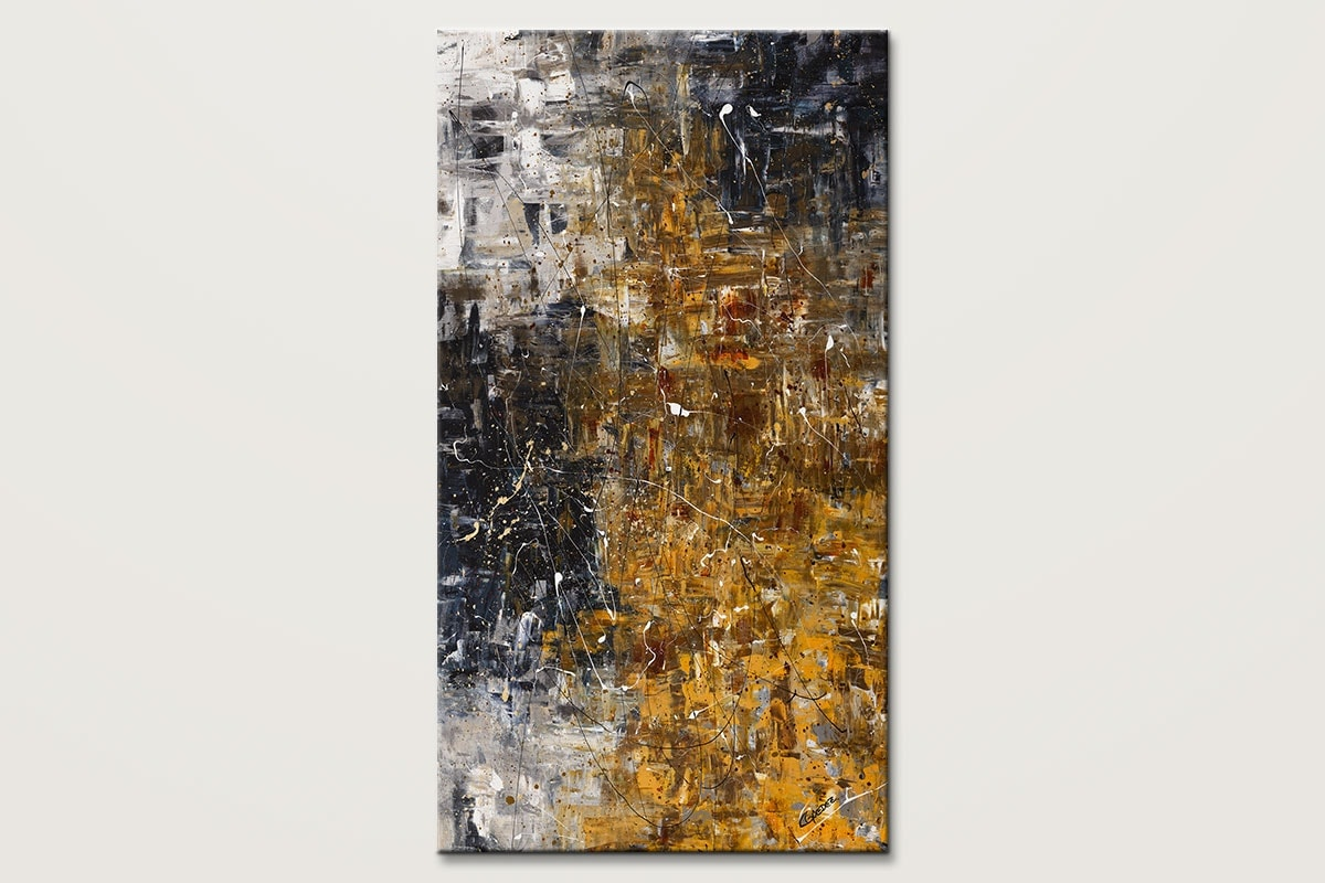 The Golden River Large Modern Abstract Art Id80