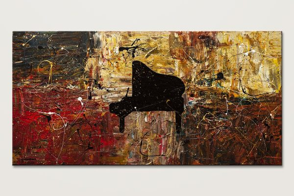 The Grand Finale Piano Abstract Art Painting Id80 1