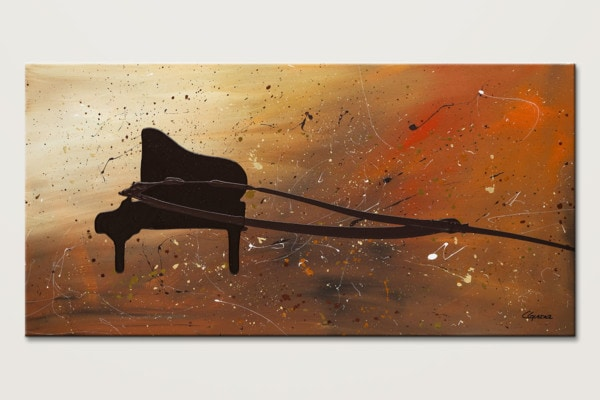 The Grand Finale Piano Abstract Art Painting Id80