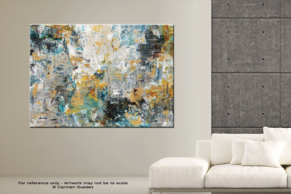 The Hills Abstract Art Modern Painting Large Id76