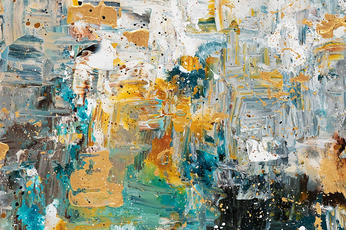 The Hills Abstract Art Painting Close Up