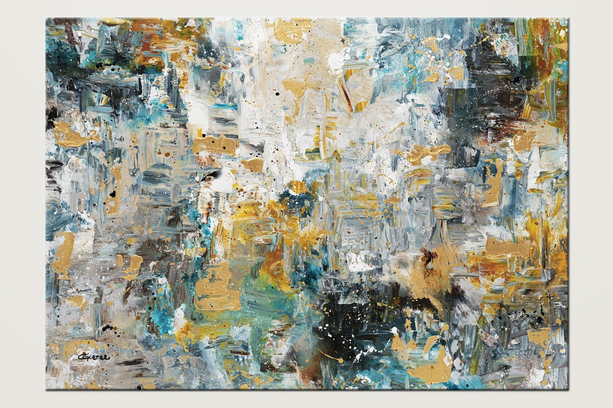 The Hills Acrylic Abstract Art Painting