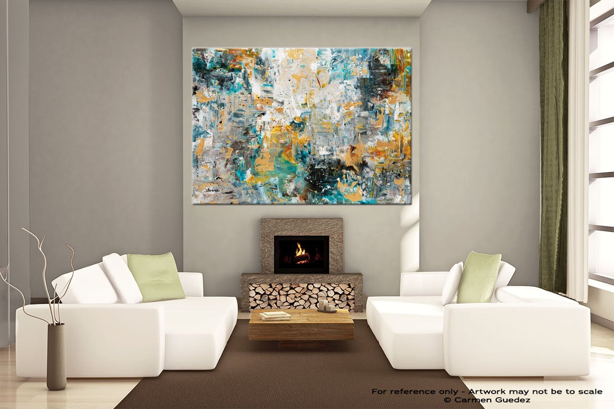 The Hills Extra Large Wall Abstract Painting Id22