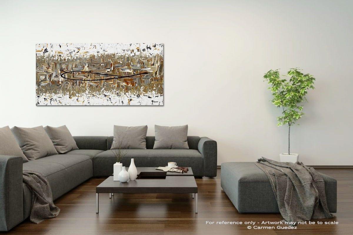The Longest Ride Acrylic Gray Wall Art Painting Id34