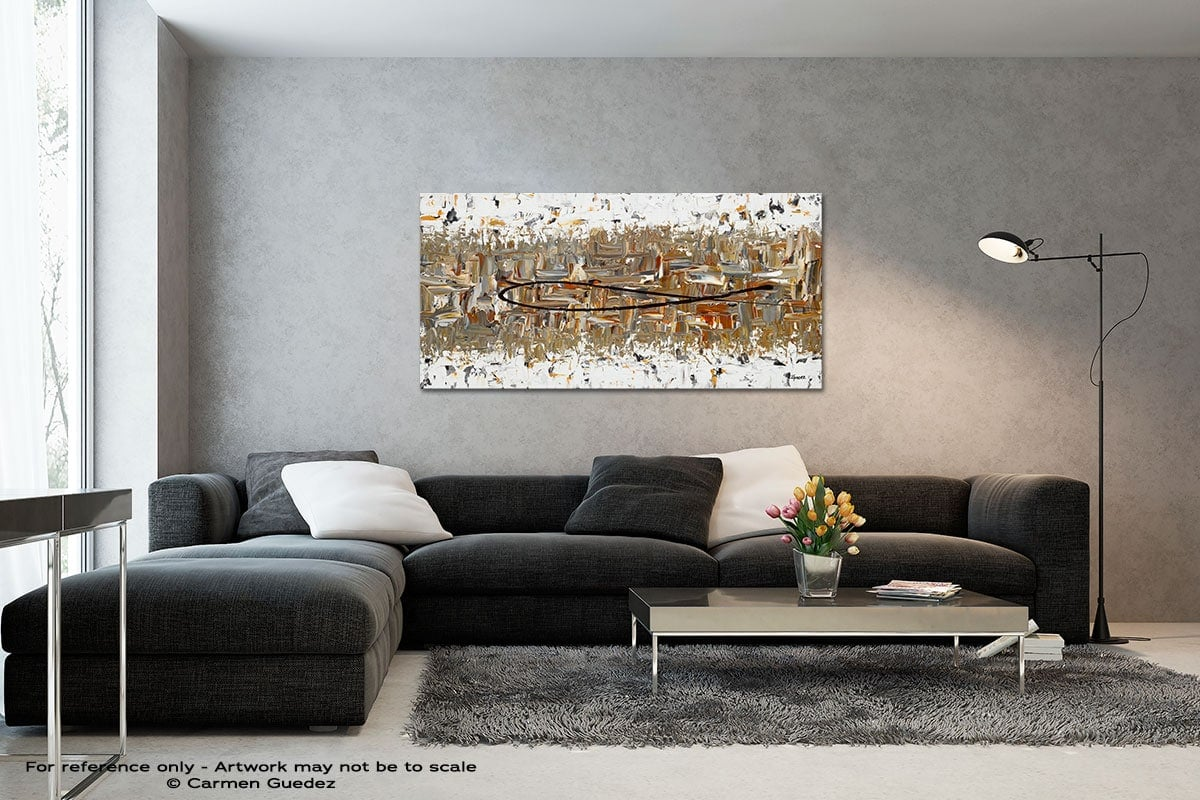 The Longest Ride Black And White Wall Abstract Art Painting Id70