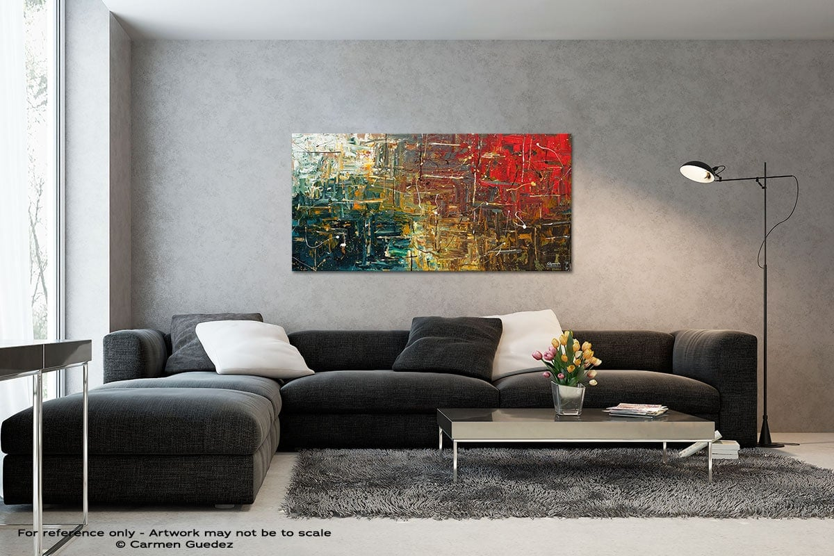 The Middle Way Black And White Wall Abstract Art Painting Id70