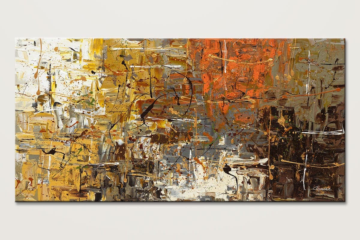 Modern abstract painting for sale the more the merrier for Large artwork for sale