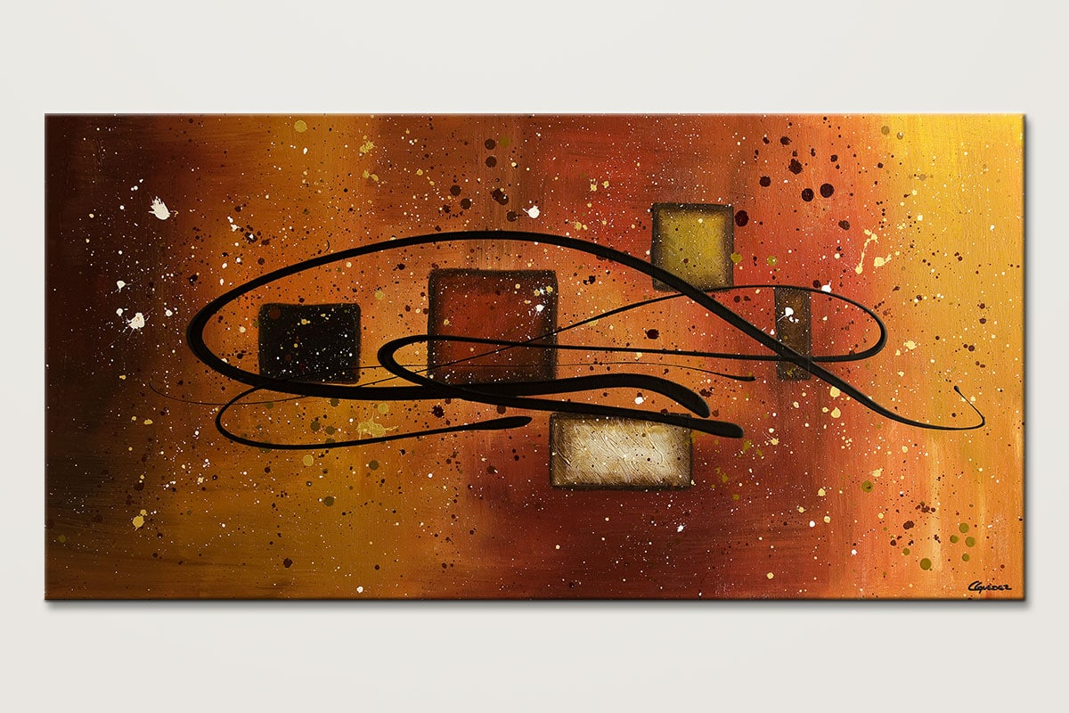 Superbe The Power   Abstract Art Painting Image By Carmen Guedez