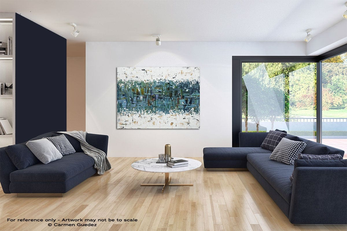 The Right Reason Modern Blue Abstract Painting Home Id50