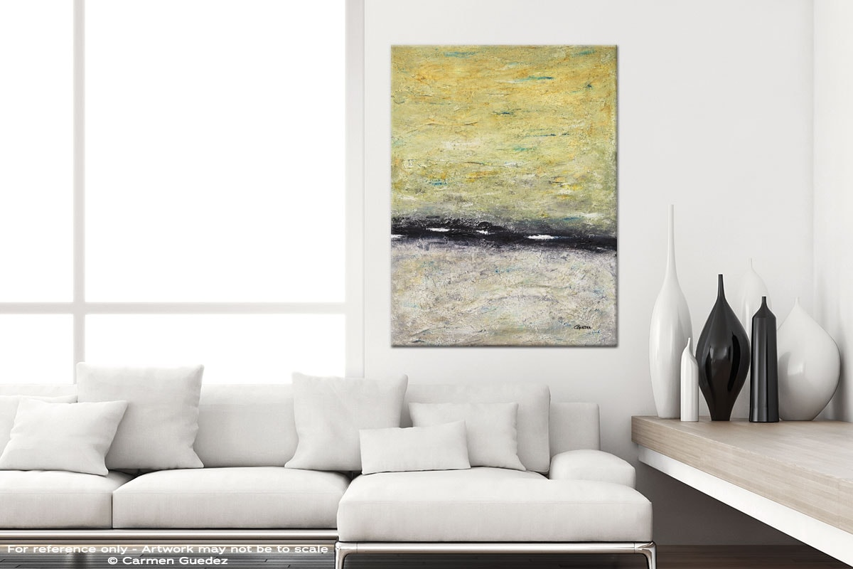 The Skys The Limit Modern Vertical Black And White Interior Abstract Art Id54