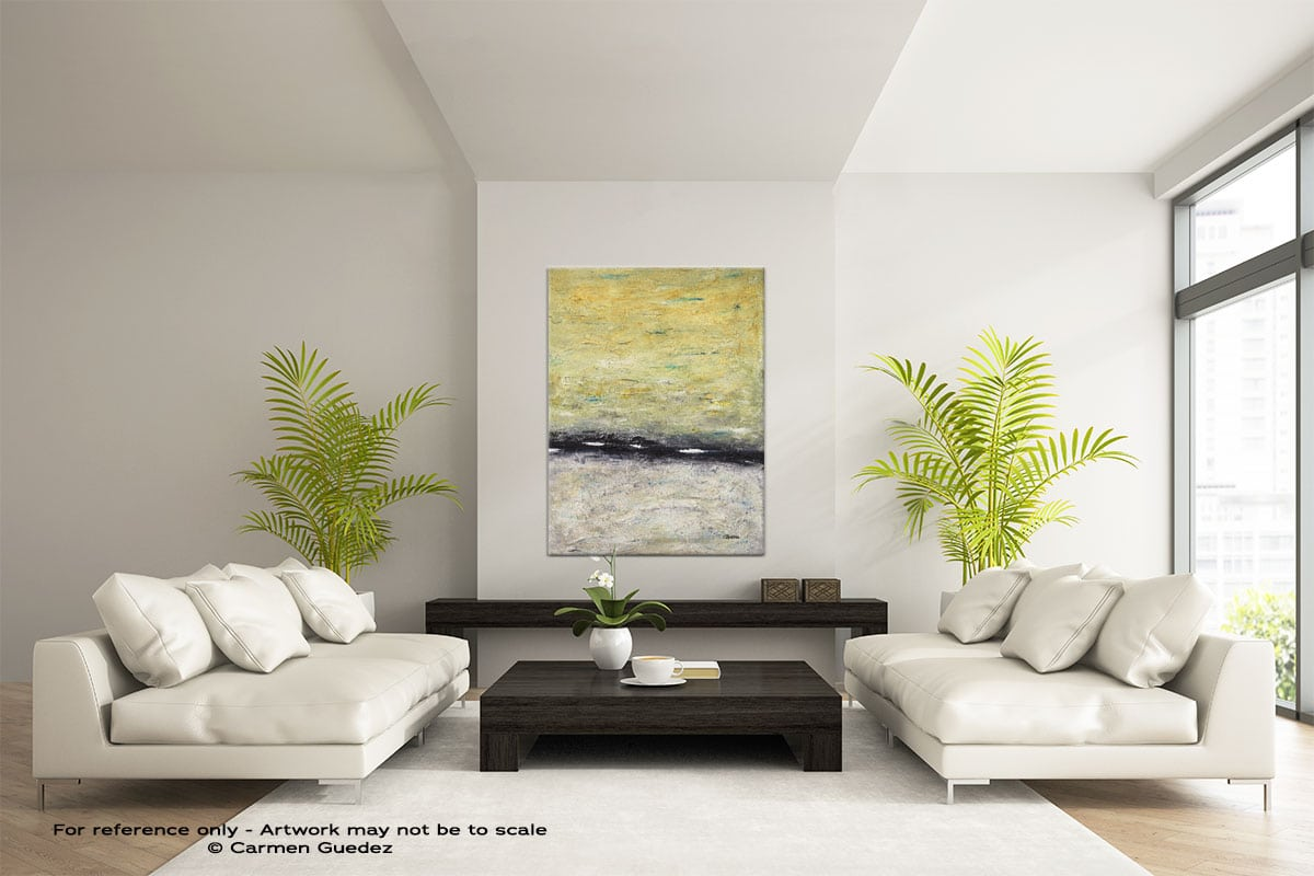 The Skys The Limit Vertical Abstract Wall Art Painting Id57