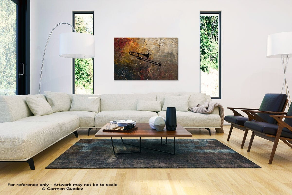 The Trombone Abstract Painting Interior Decor Art Id61