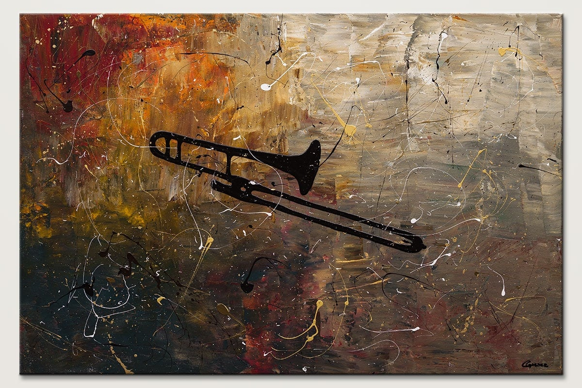The Trombone Modern Music Abstract Art Id80