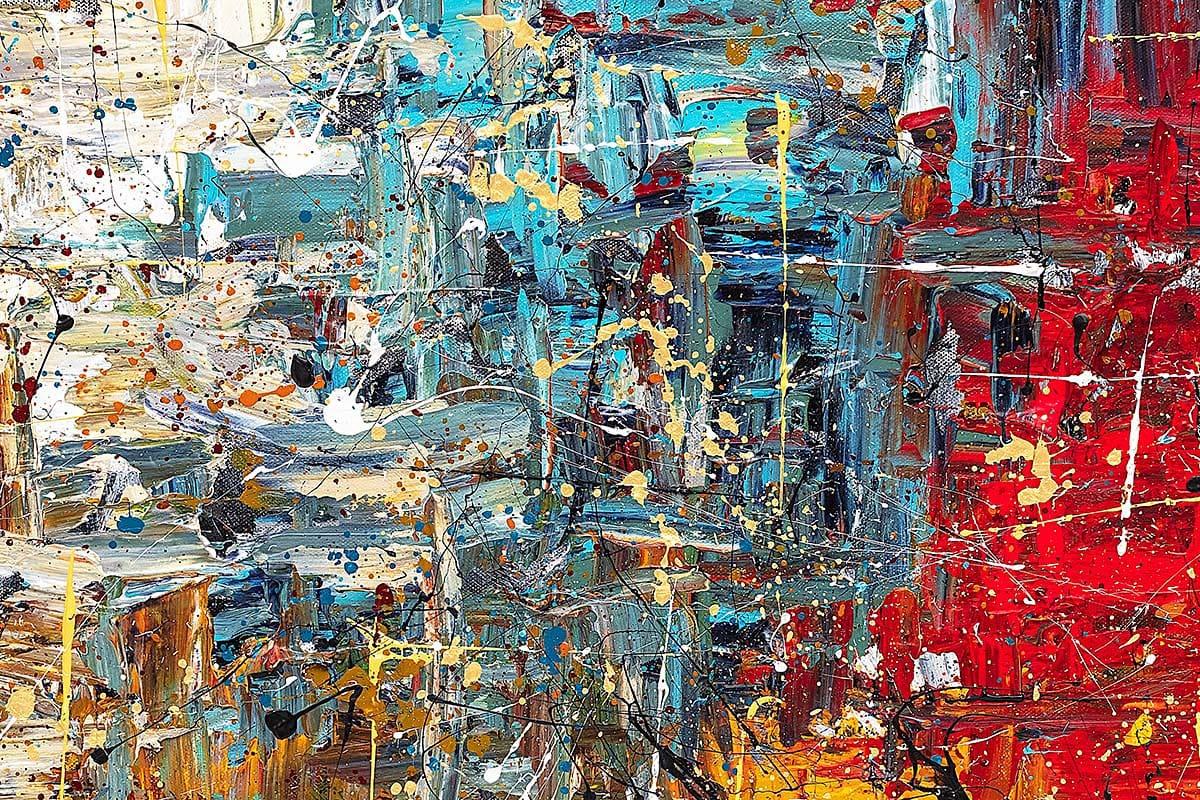 Thisisit Abstract Art Painting Close Up