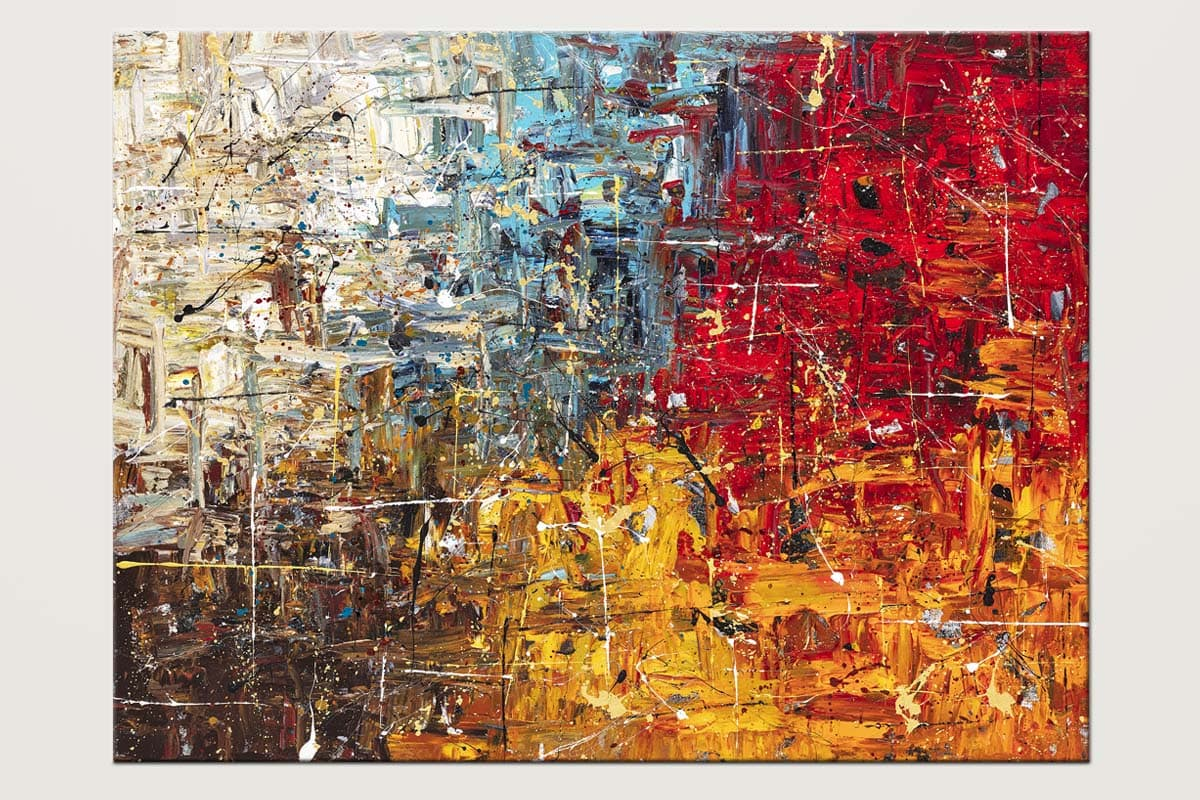 Thisisit Colorful Abstract Art Canvas Painting Id80