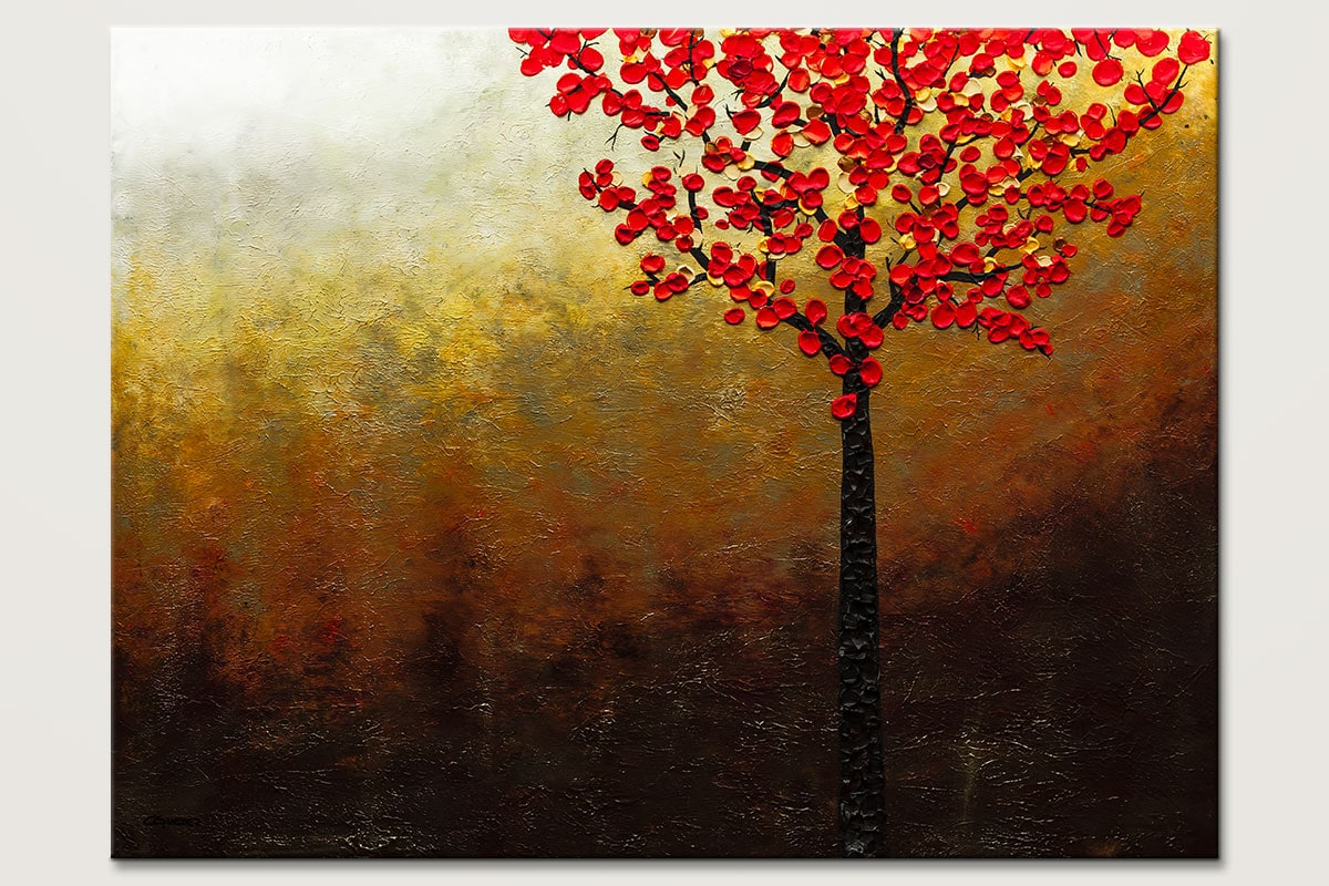 Top Of The Hill Oversized Abstract Art Painting Id80