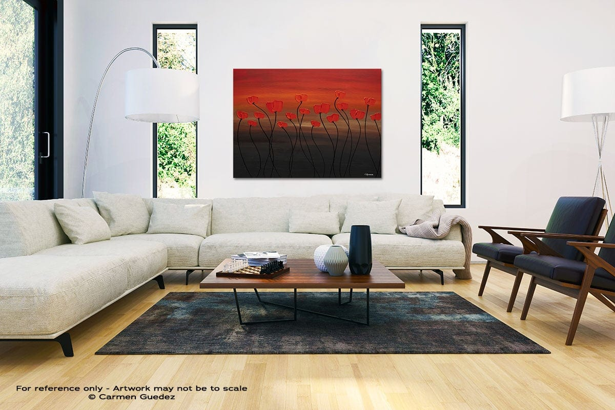 Tropical Sunset Black And White Interior Decor Abstract Art Id46