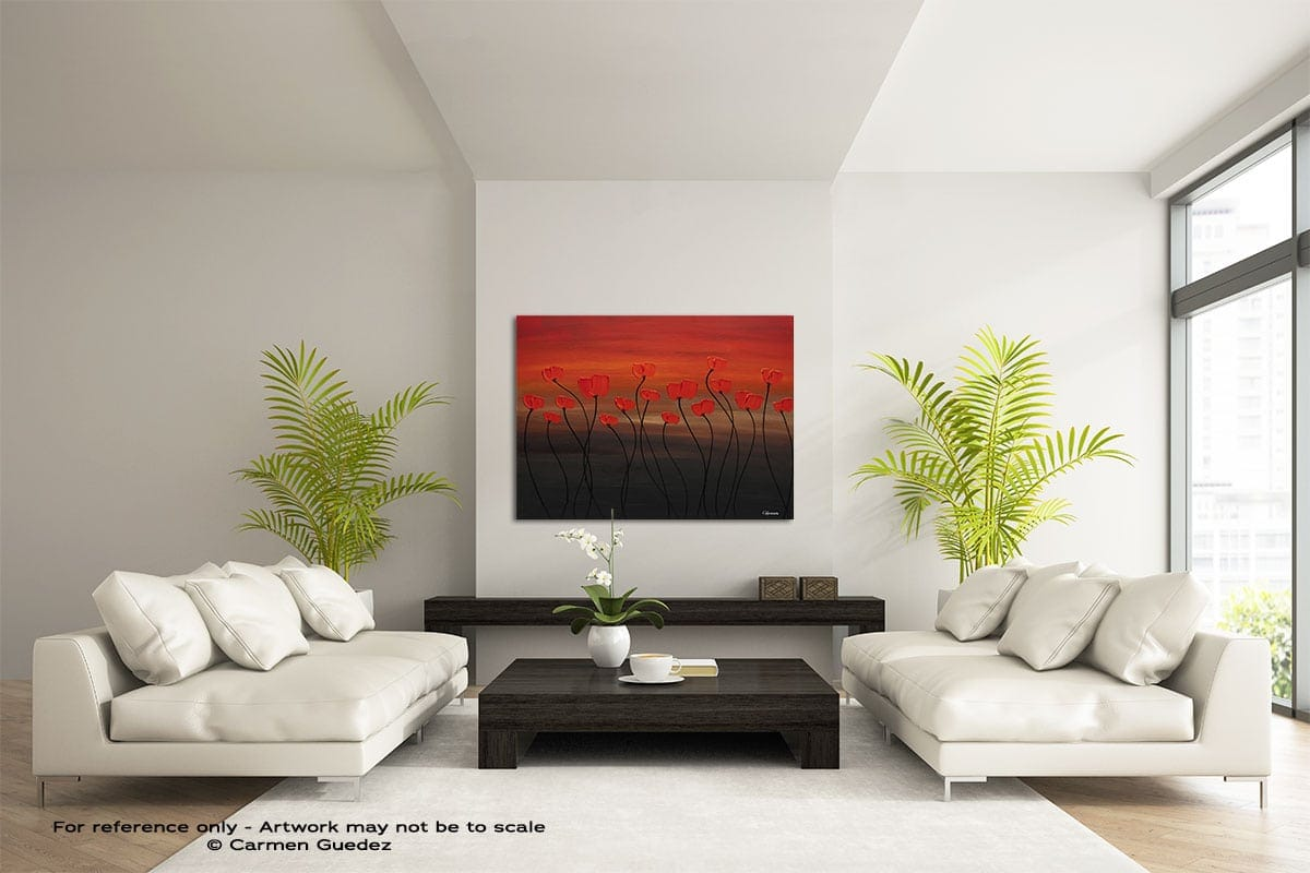 Tropical Sunset Large Modern Abstract Art Painting Id49