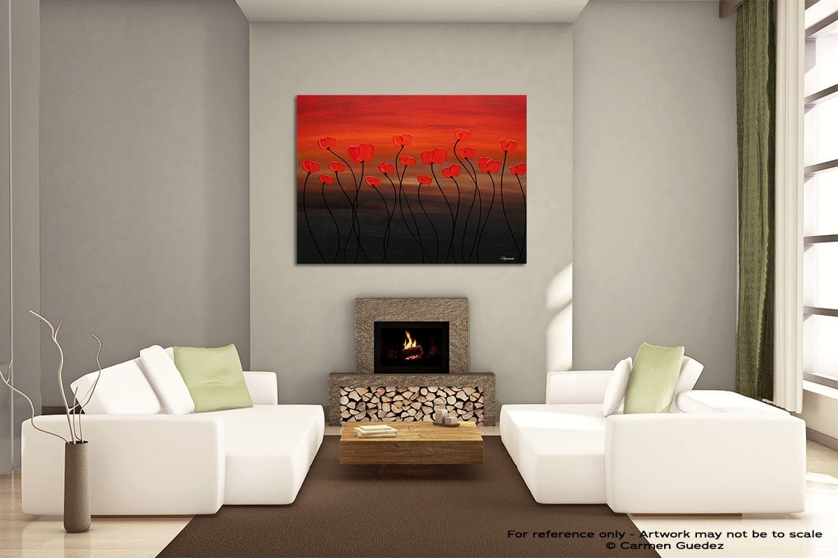 Tropical Sunset Painting On Canvas Large Living Room Id52