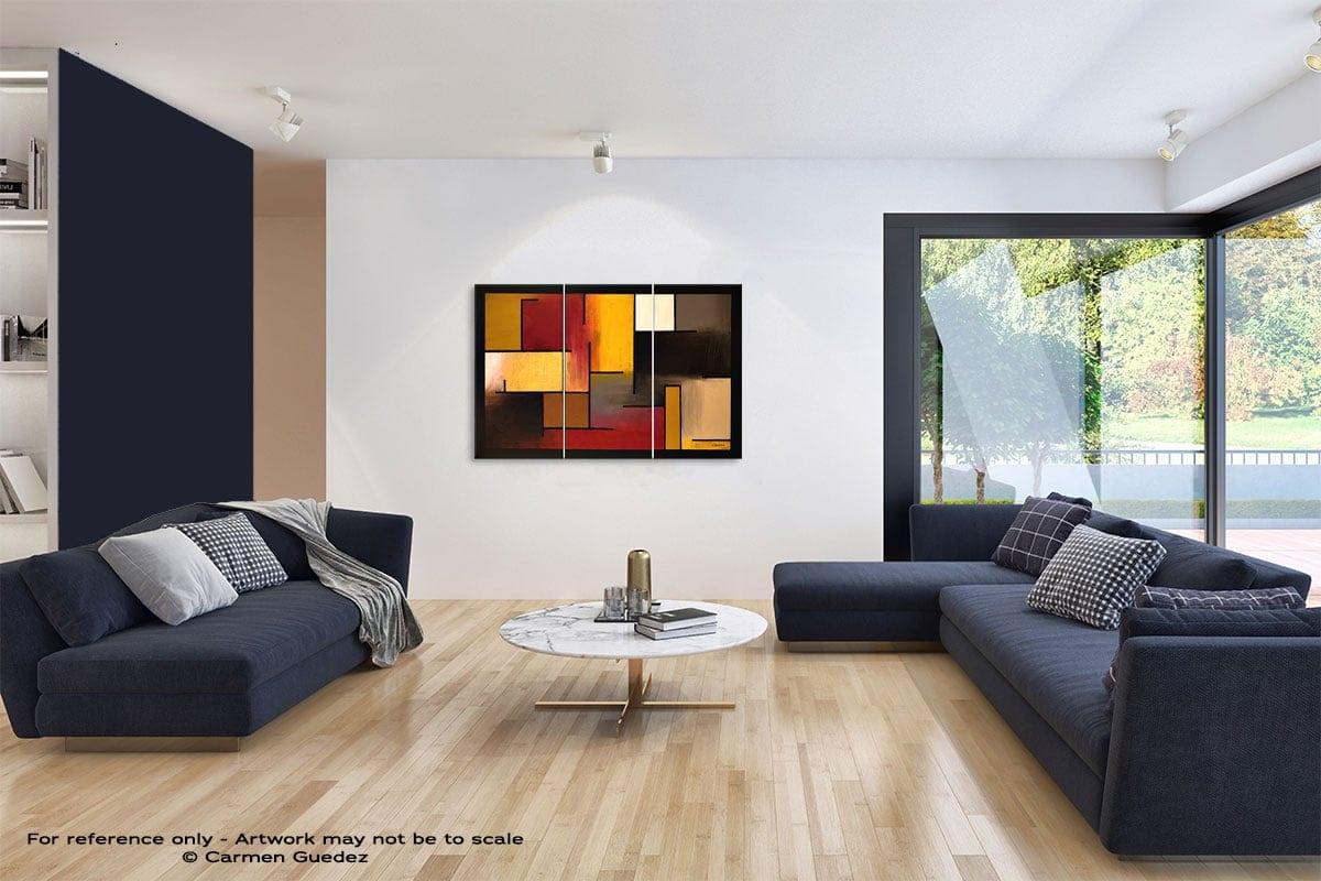 True Story Abstract Art Blue Interior Home Id59