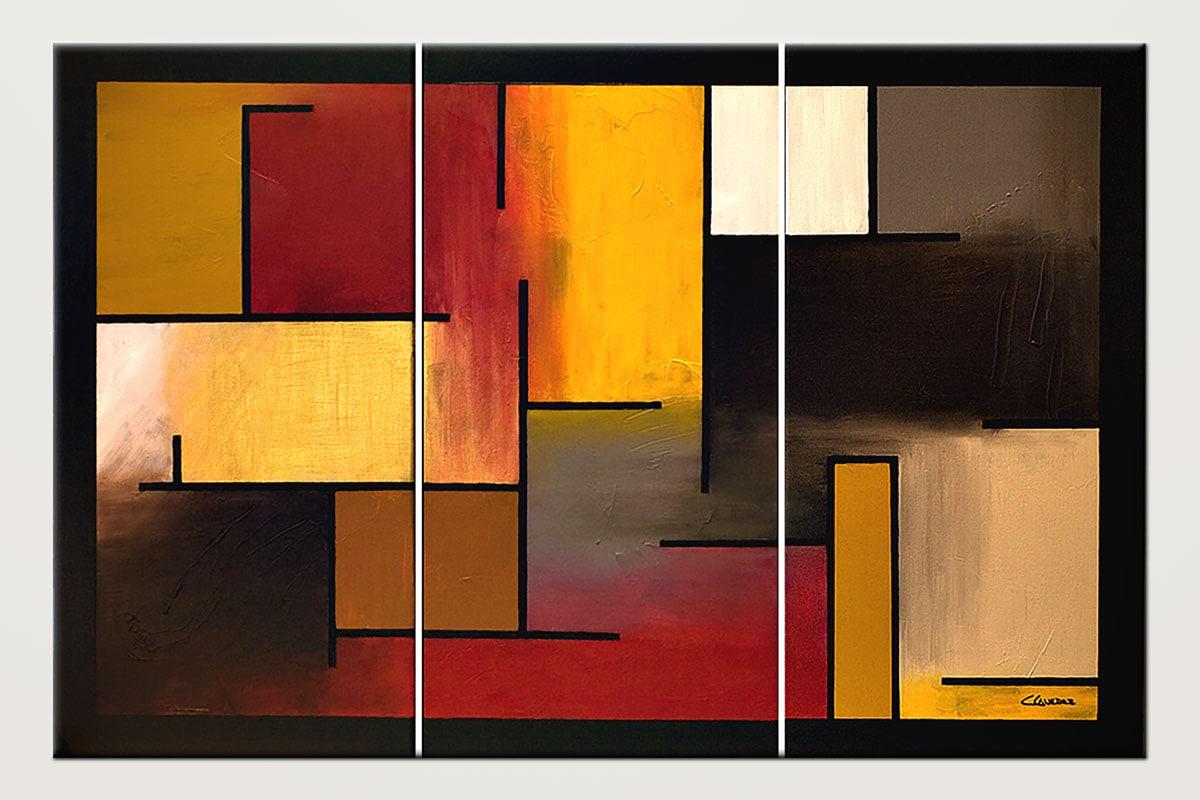 True Story Geometric Modern Abstract Art Id80
