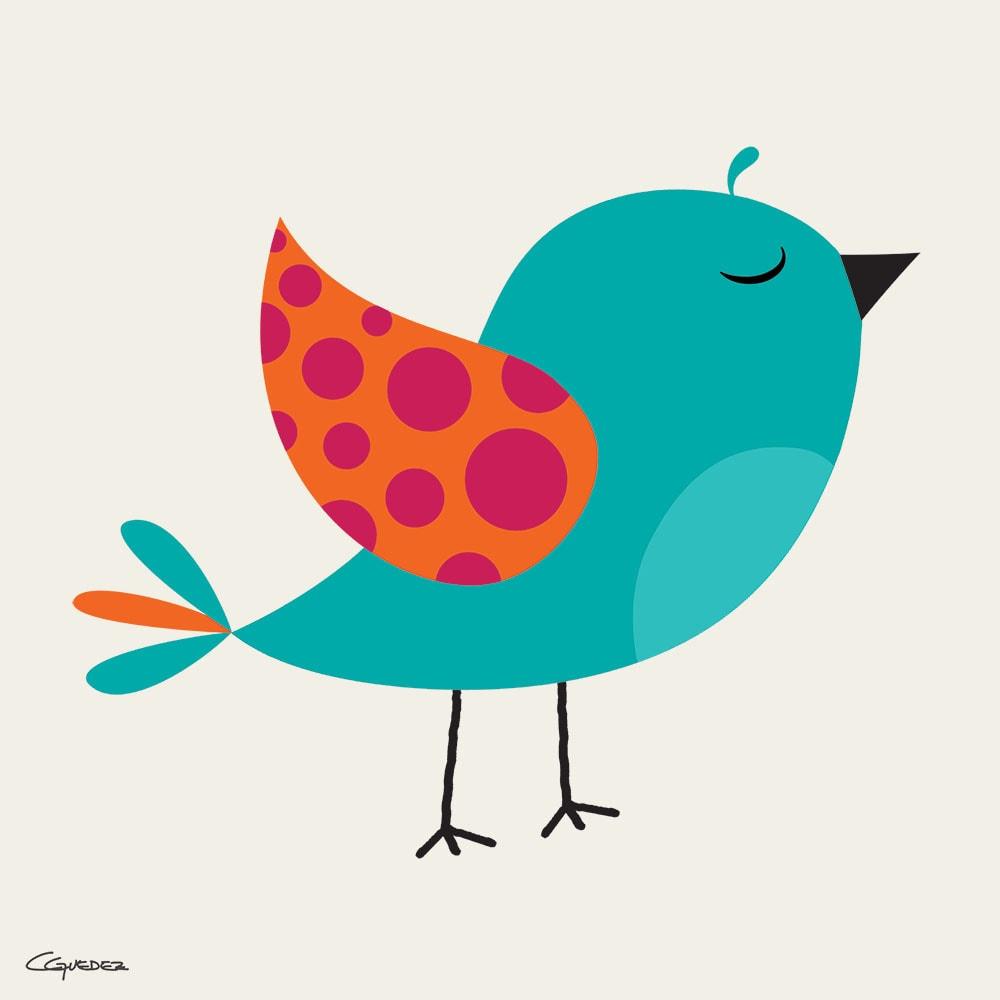 Turquoise Bird Nft Art