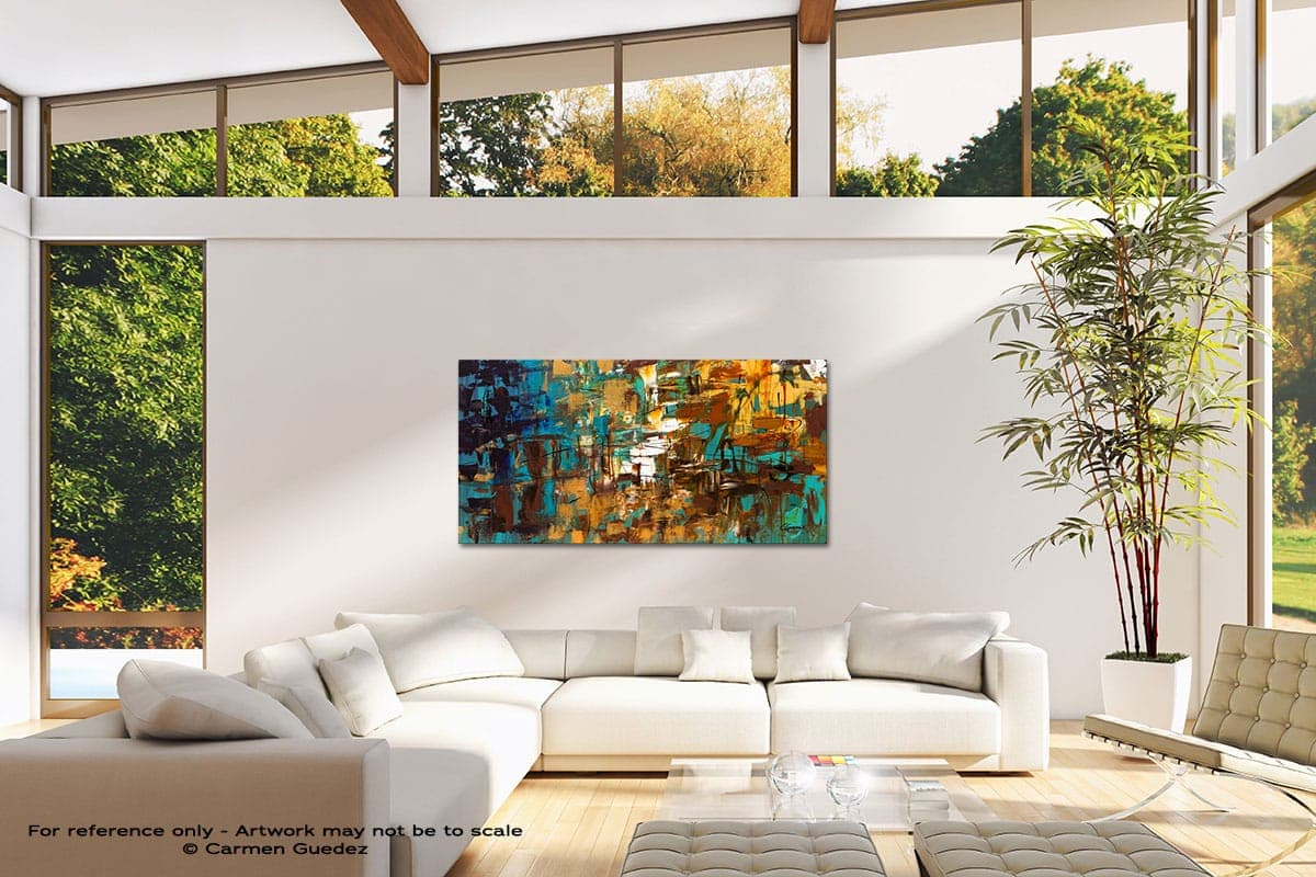 Turquoise Scent Modern Canvas Abstract Art Id38