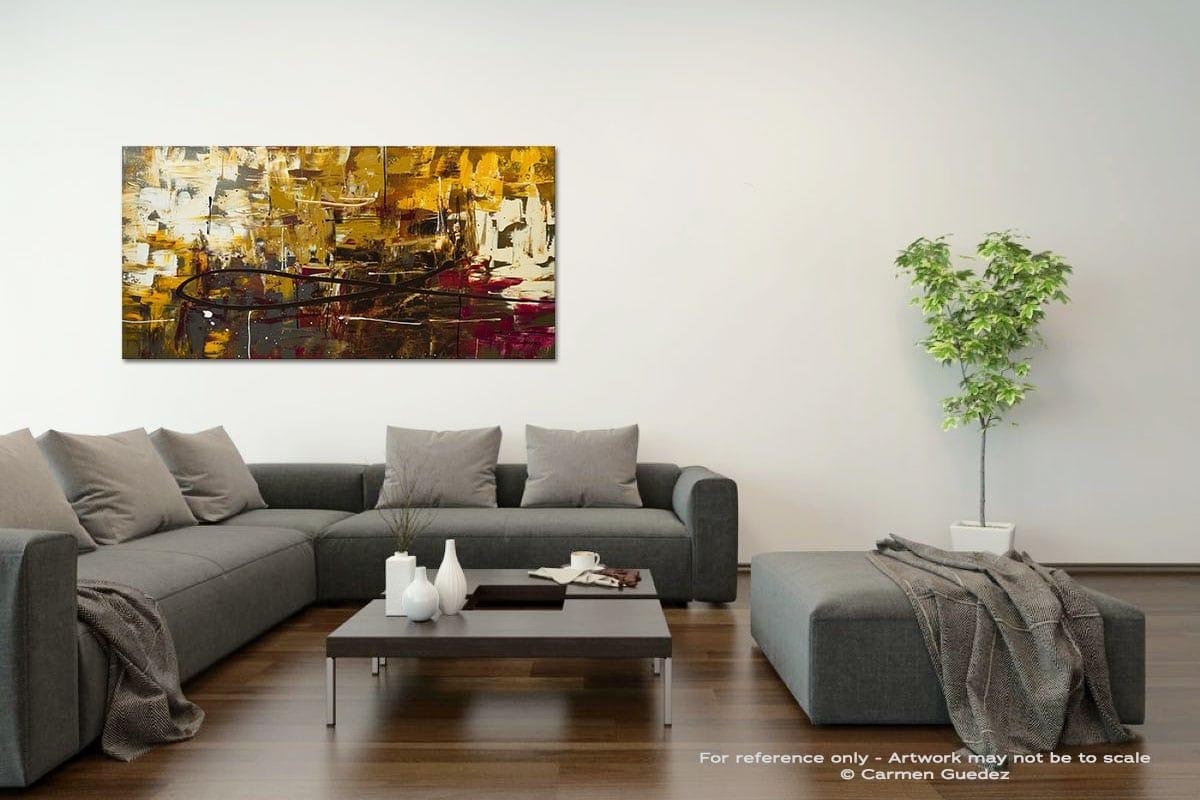 Tuscan Potpourri Acrylic Gray Wall Art Painting Id34