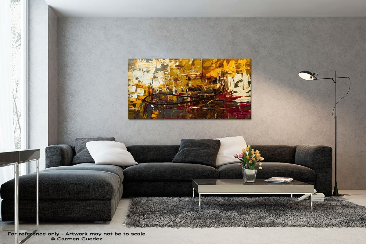 Tuscan Potpourri Black And White Wall Abstract Art Painting Id70