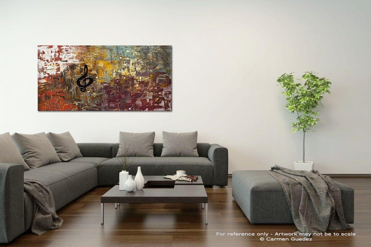 Universal Language Acrylic Gray Wall Art Painting Id34