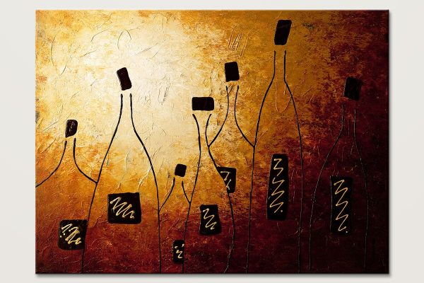 Vins De France Large Abstract Art Painting Id80