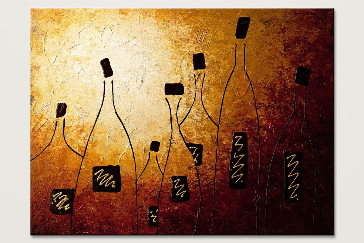 Vins de France - Abstract Art Painting Image by Carmen Guedez
