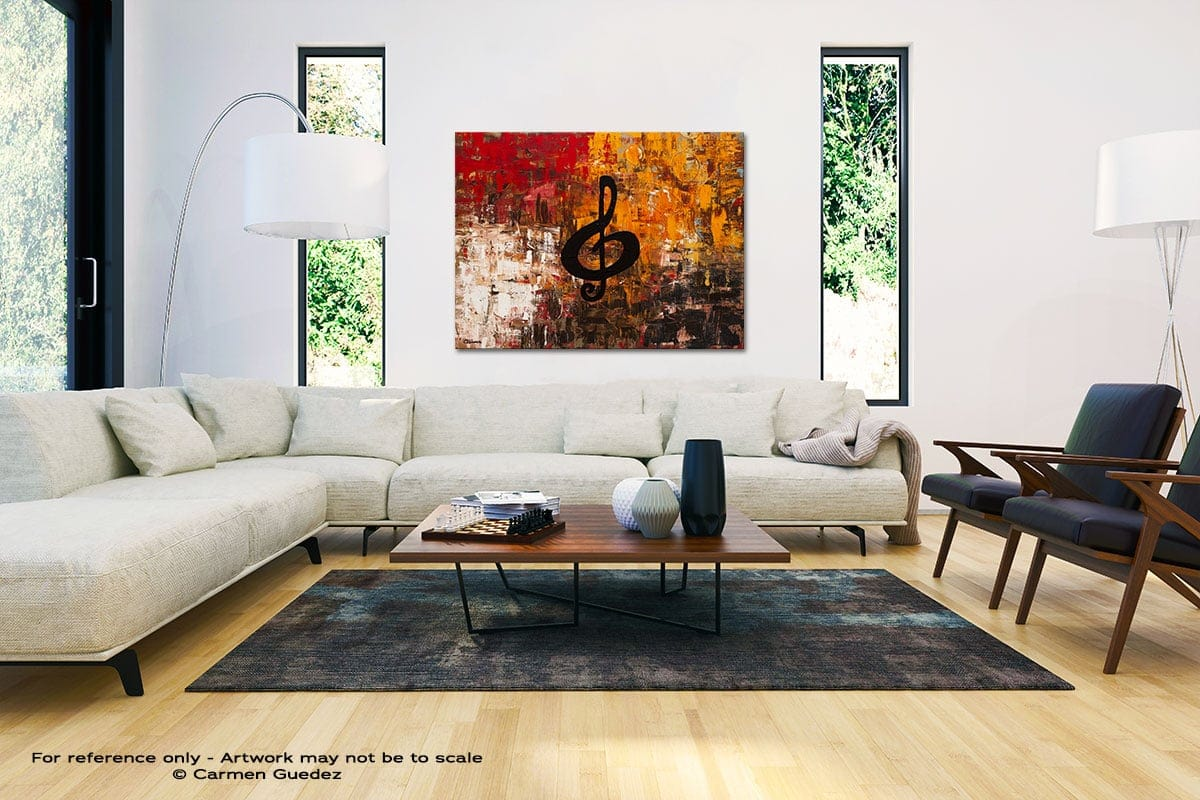 Virtuoso Black And White Interior Decor Abstract Art Id46