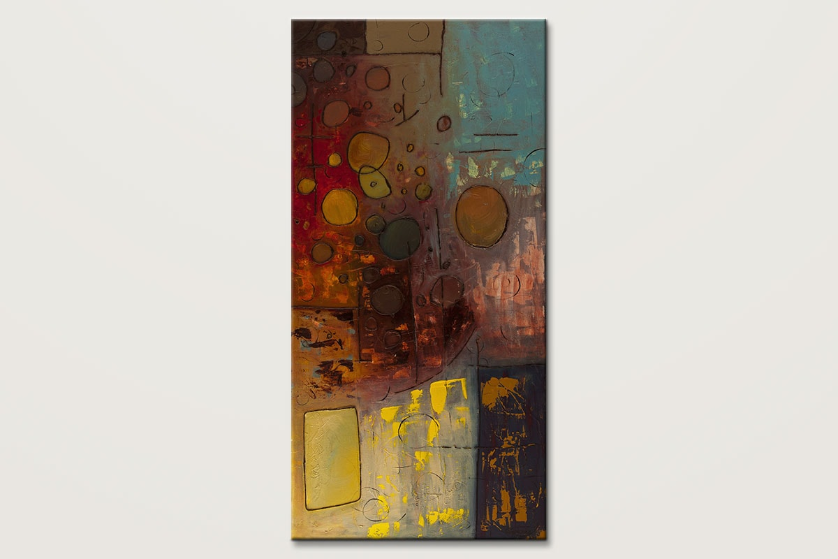 Voila Contemporary Vertical Abstract Art Painting