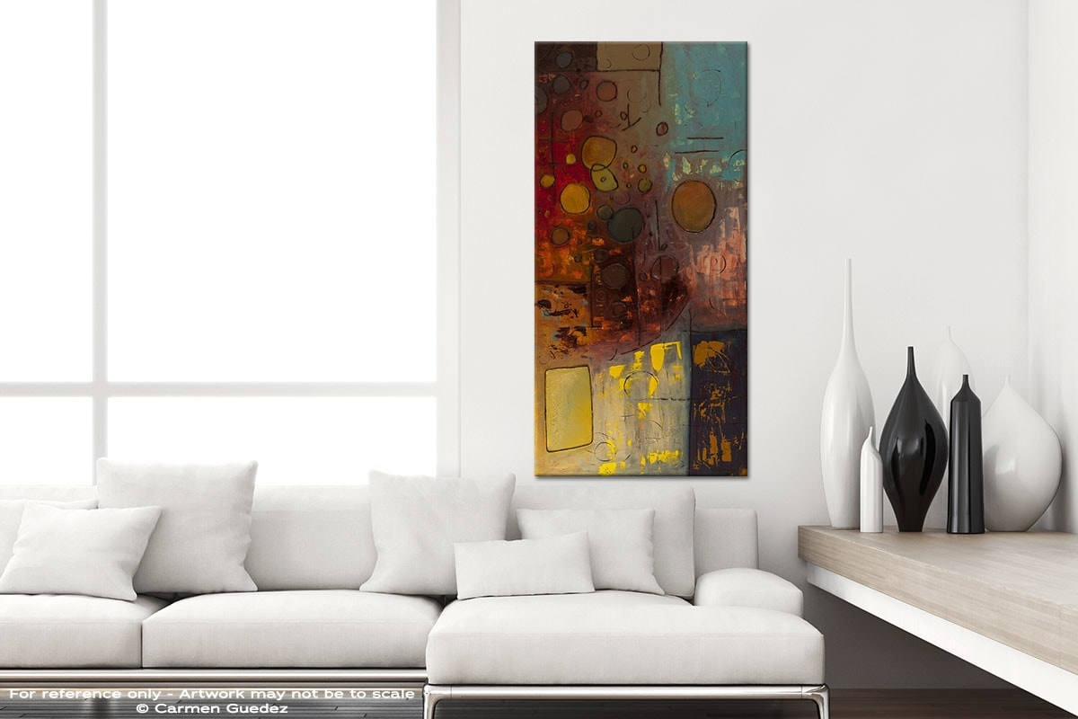 Voila Vertical Abstract Art Canvas Painting Id44