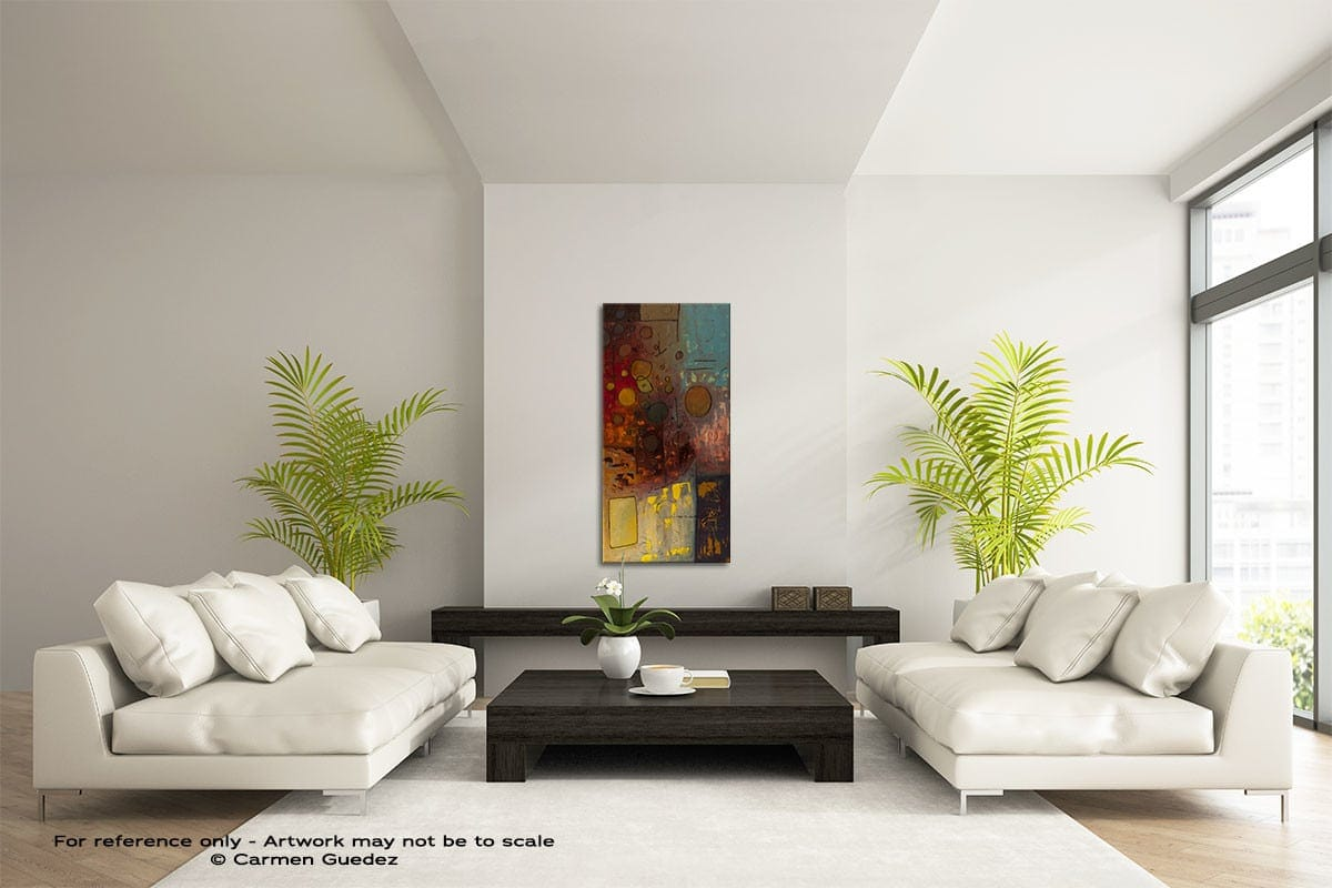 Voila Vertical Abstract Art Painting Id43