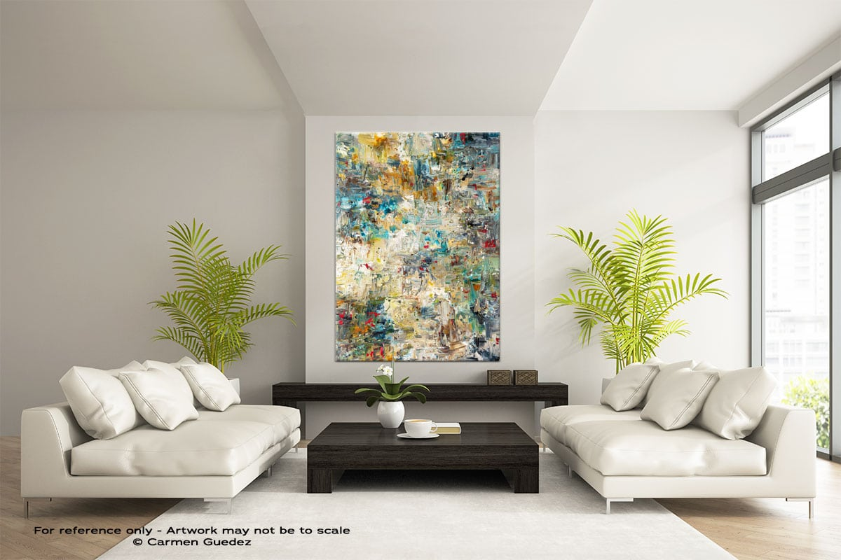 Water Lilies Abstract Painting Modern Home Id17