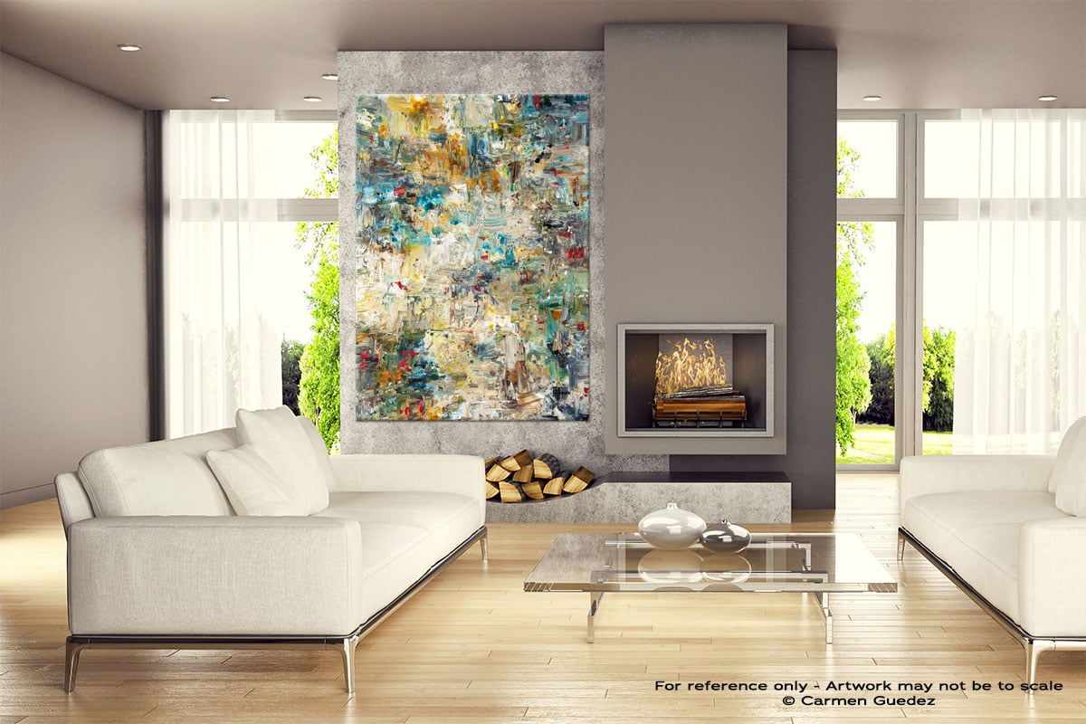 Water Lilies Gray Abstract Wall Art Painting Id18