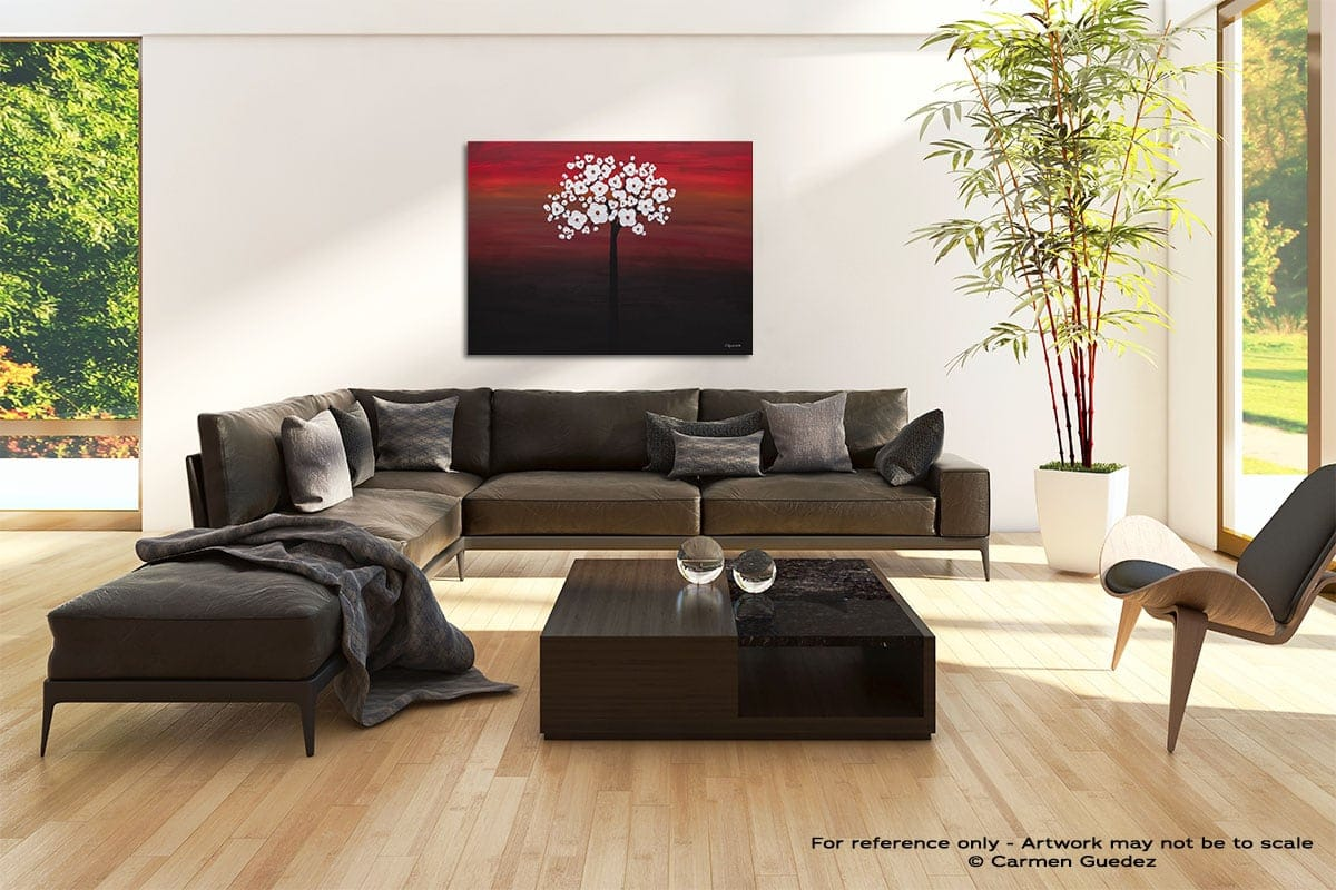Wedding Flowers Abstract Painting Modern Home Id69