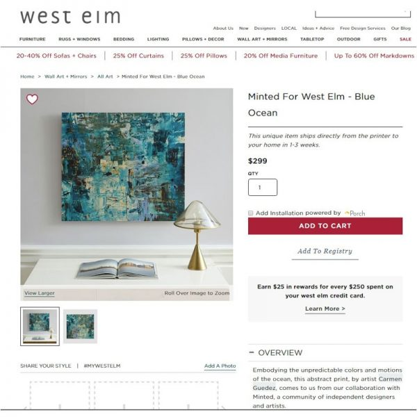 West Elm Carmen Guedez Abstract Painting