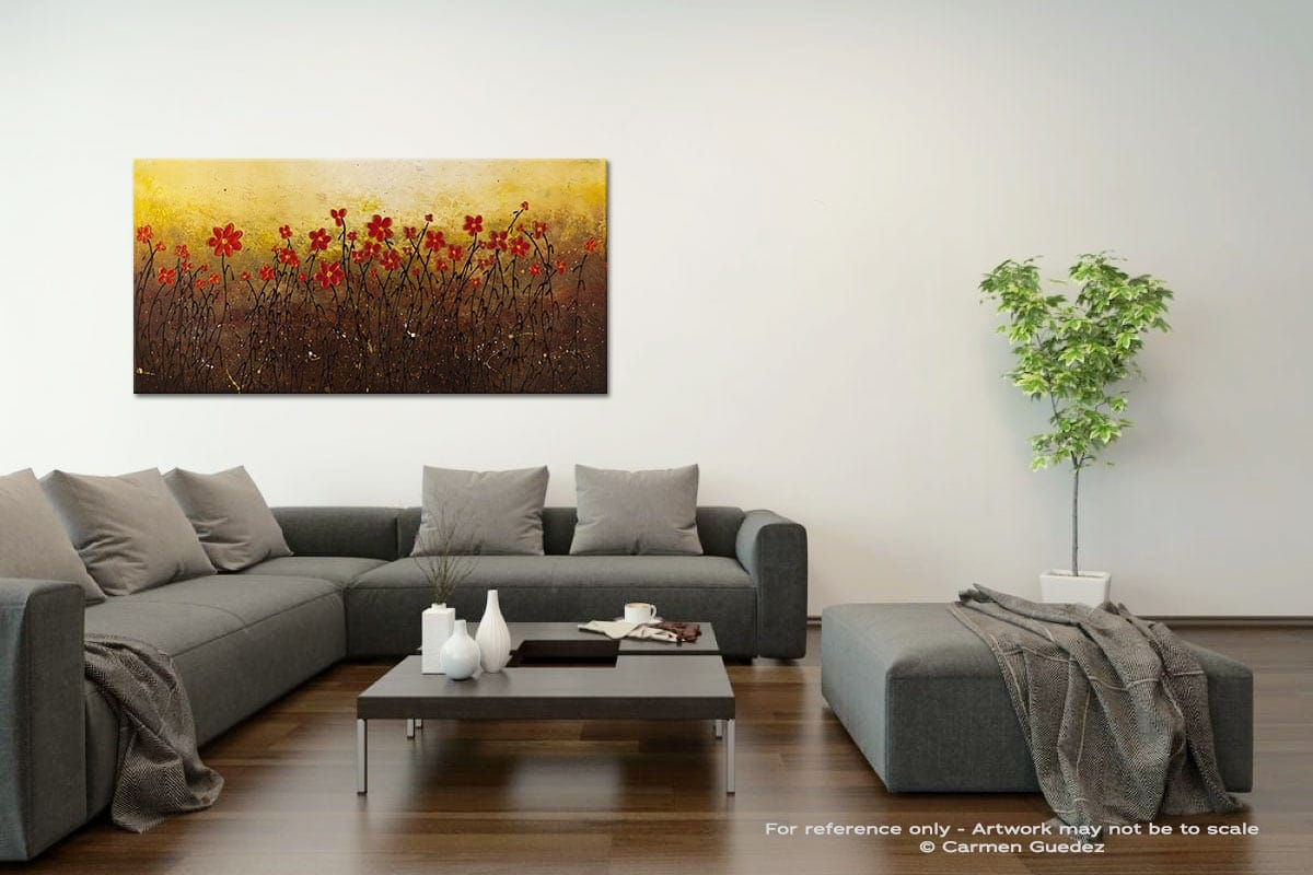 Where Happiness Grows Acrylic Gray Wall Art Painting Id34