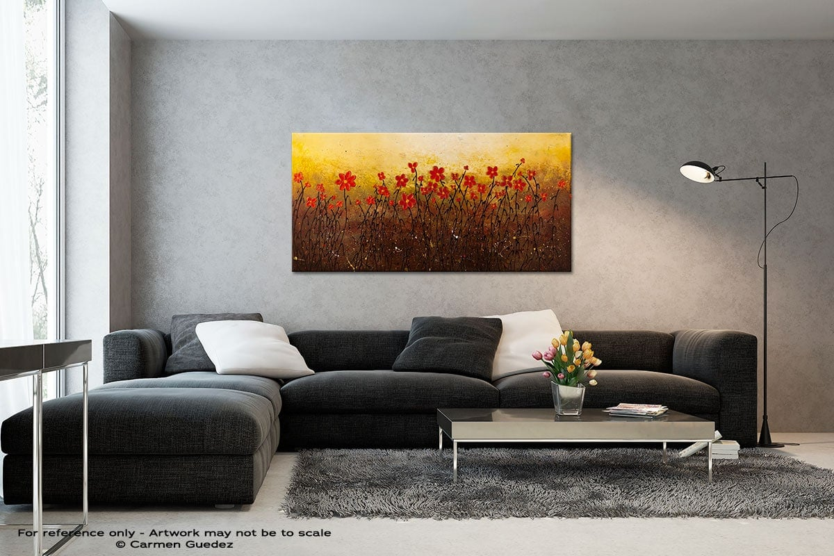 Where Happiness Grows Black And White Wall Abstract Art Painting Id70