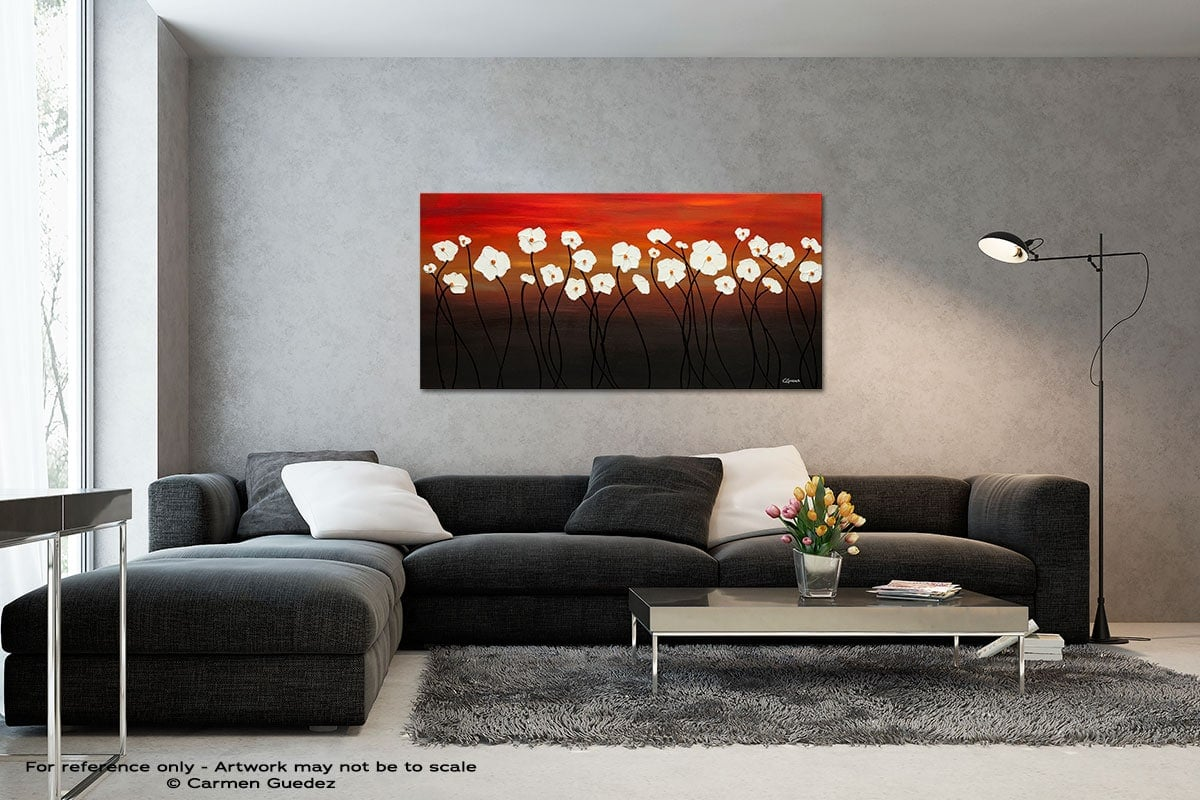 White Dreams Black And White Wall Abstract Art Painting Id70