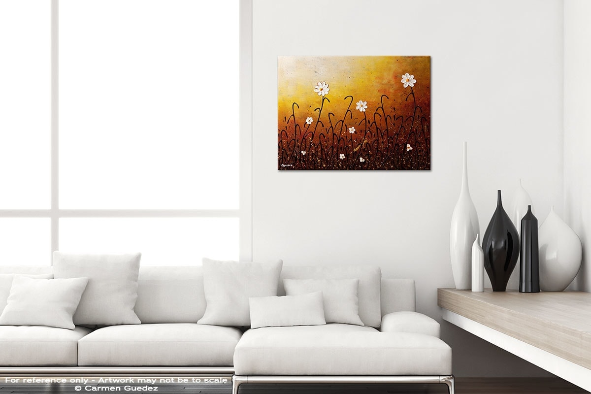 White Flowers Black And White Home Design Abstract Art Id64