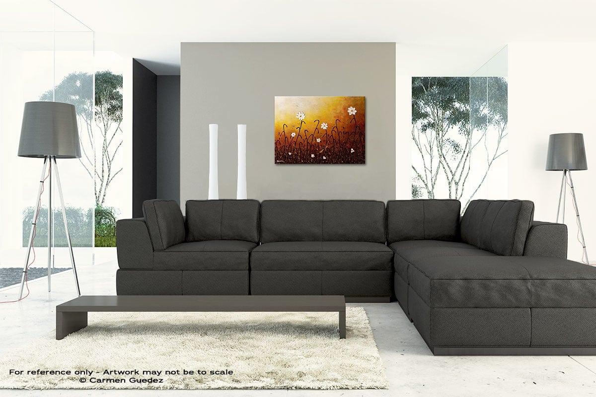White Flowers Original Modern Canvas Abstract Art Id66