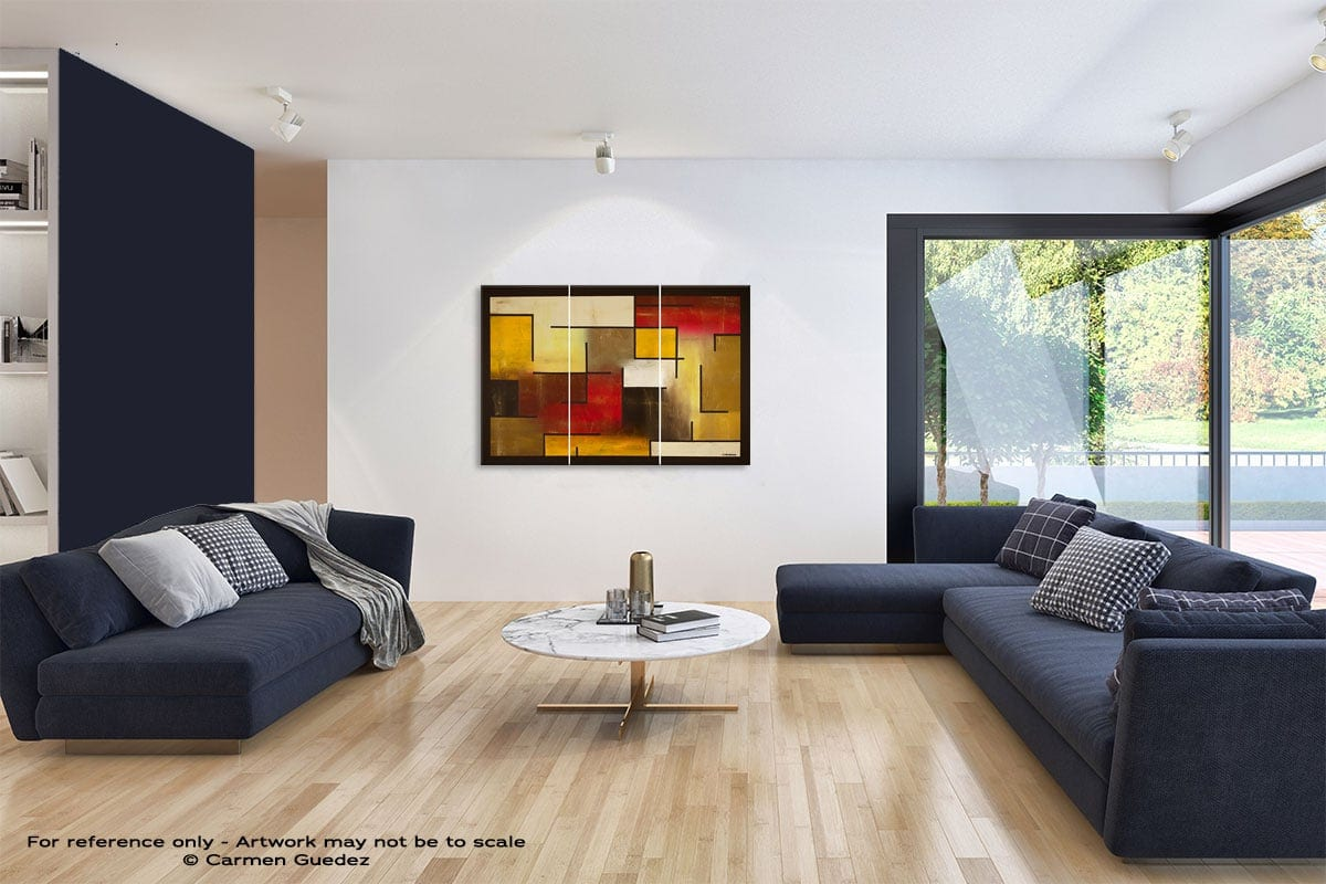 Who Figures Abstract Art Blue Interior Home Id59