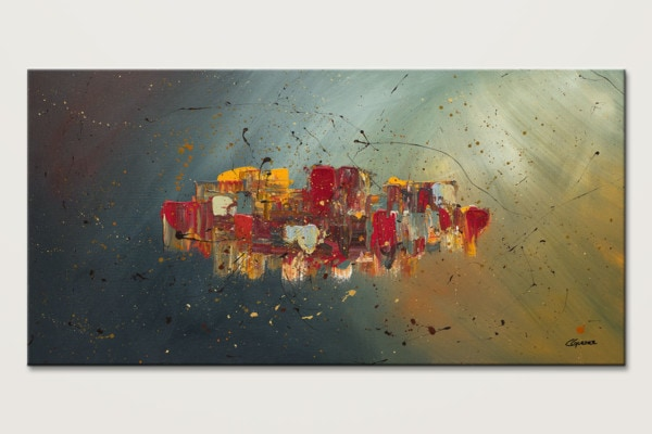 Winds Of Prosperity Abstract Art Painting Id80