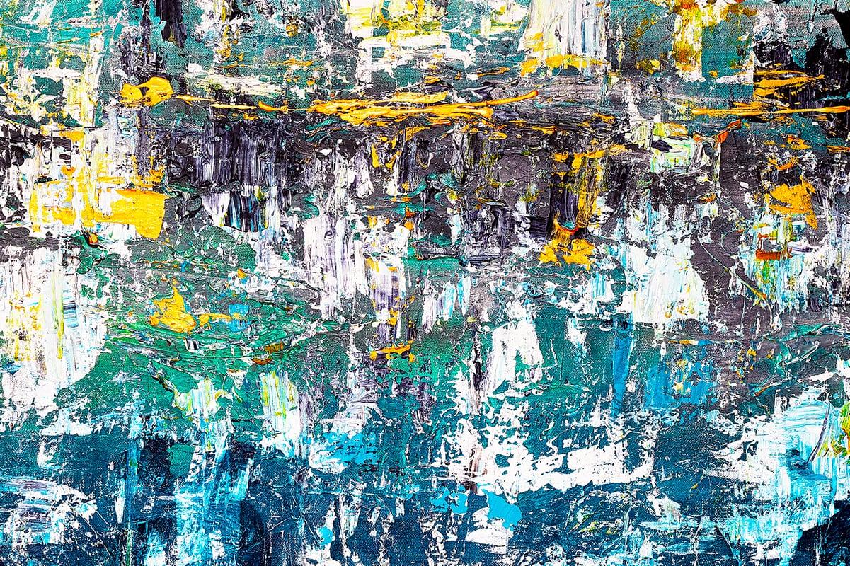 Wonderment1 Abstract Art Painting Close Up