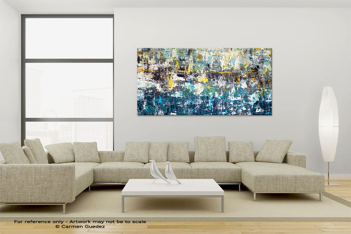 Wonderment1 Large Canvas Abstract Painting Id6