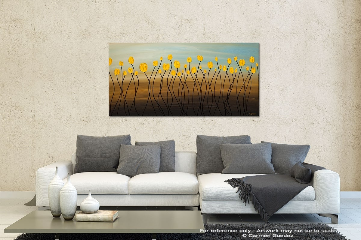 Yellow Tulips Contemporary Abstract Art Id35